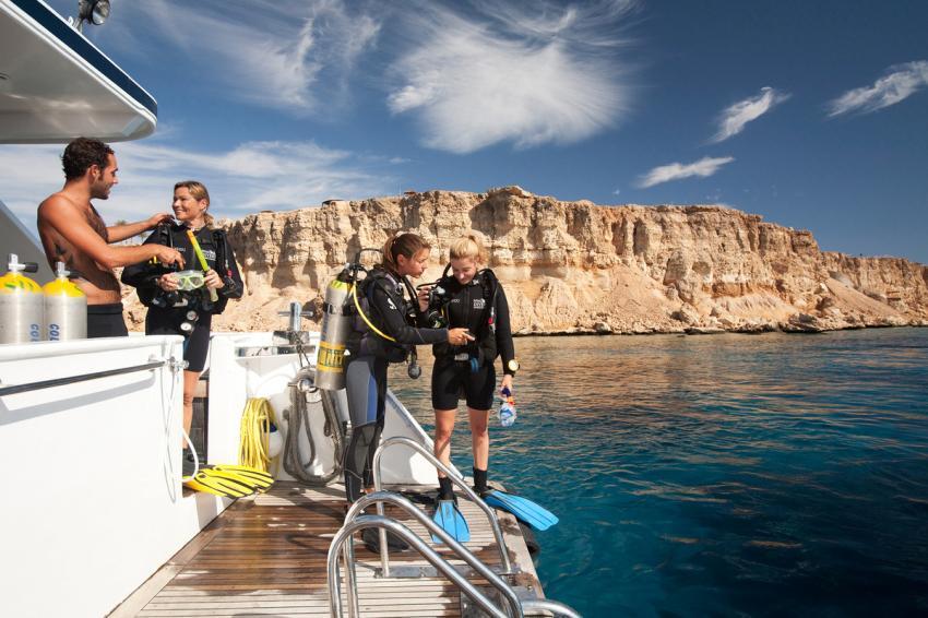 Tagesboot, Sinai Divers, Na'ama Bay, Sharm el Sheikh, Ägypten, Sinai-Süd bis Nabq