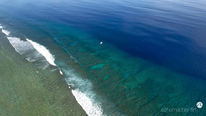 Tauchplatz Vertigo, Yap (Luftaufnahme)