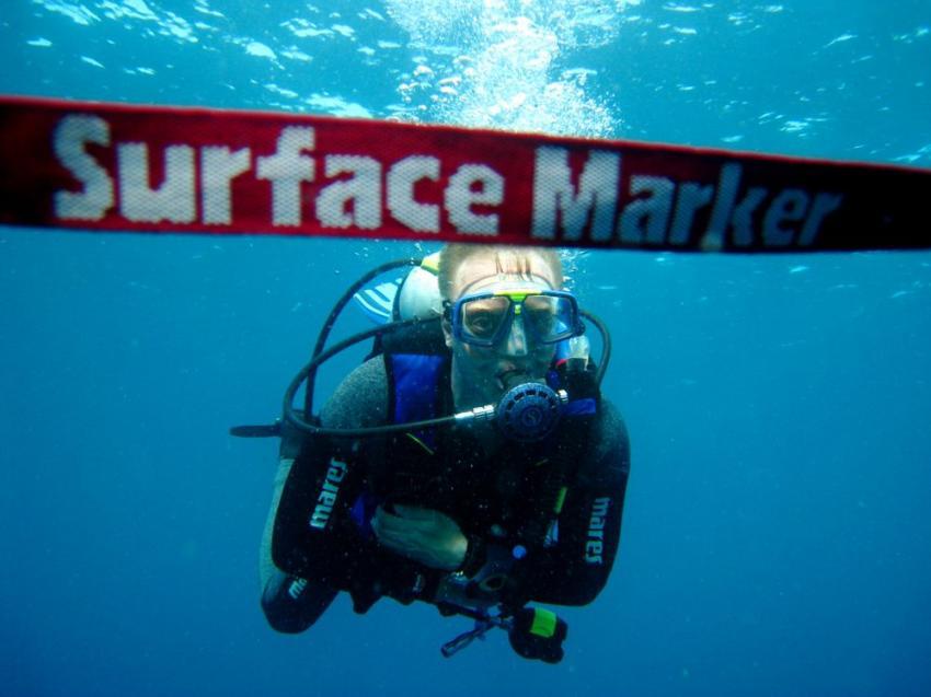 Vilu Reef, Vilu Reef,Malediven,sicherheitsstopp,deko,surface marker