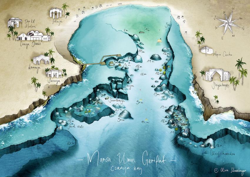Hausriff Coraya Divers - Coraya Bay, Hausriff Coraya Divers - Coraya Bay, Coraya Divers, Coraya Bay, Marsa Alam, Ägypten, Marsa Alam und südlich
