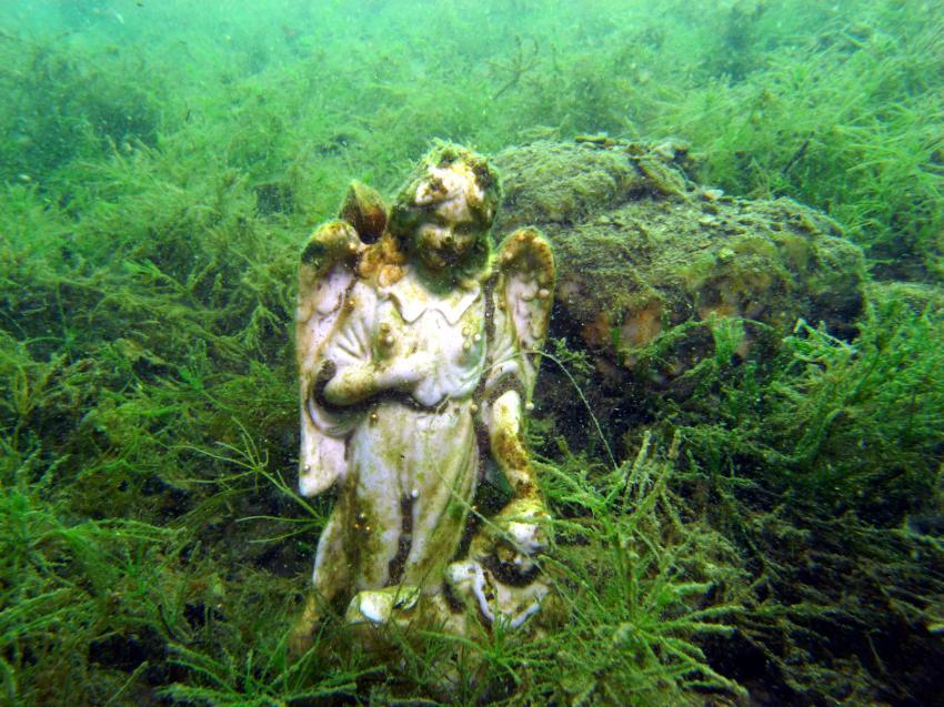 Zeller See (und Attersee), Zeller See,Österreich,statue,engel
