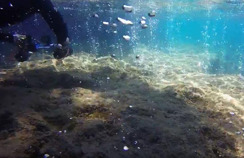 Fumarolen vor dem Castello Aragonese (GoPro Videoausschnitt), ANS Diving Ischia, Italien