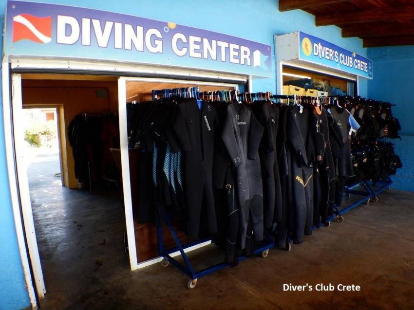 Diver's Club Crete Wetsuits, Equipment, Divers Club Crete, Agia Pelagia, Kreta, Griechenland