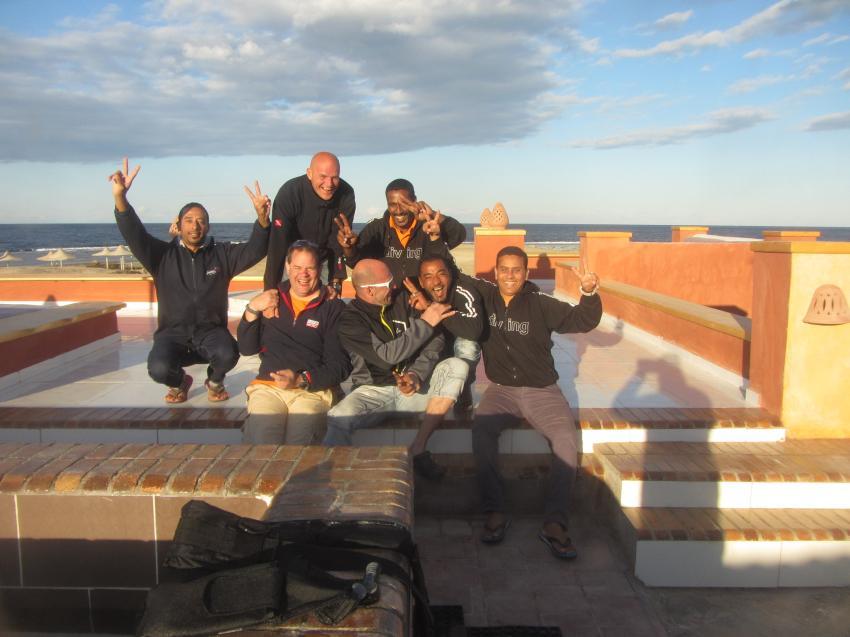 Das Team, diving.DE Abu Dabab, El Malikia Resort, Ägypten, Marsa Alam und südlich