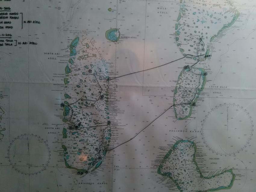 Tourverlauf, Maldives Aggressor, Malediven