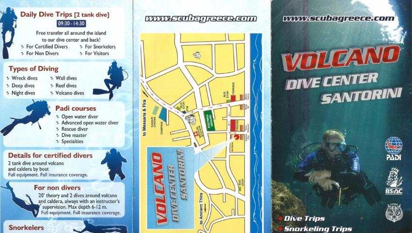 Flyer, Volcano Diving Center, Santorini, Griechenland