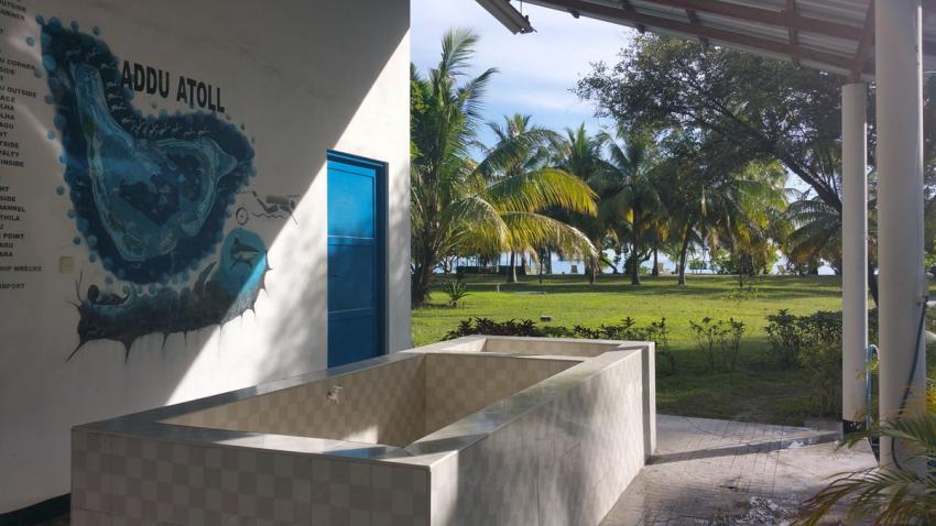 Gan Tauchbasis, Gan, Addu Atoll, Diverland, Malediven