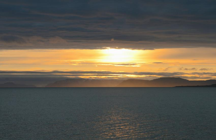 Poolepynten - Treffpunkt der Walrösser, Svalbard (Spitzbergen),Norwegen,Sonnenuntergang