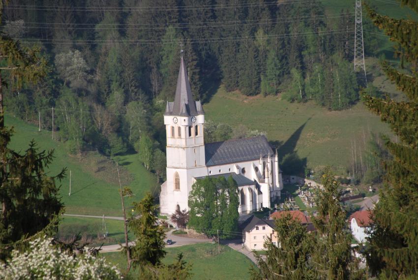 Blick auf Bad St. Leonhard im Lavanttal, Hotel Moselebauer, Bad St. Leonhard im Lavantal, Österreich