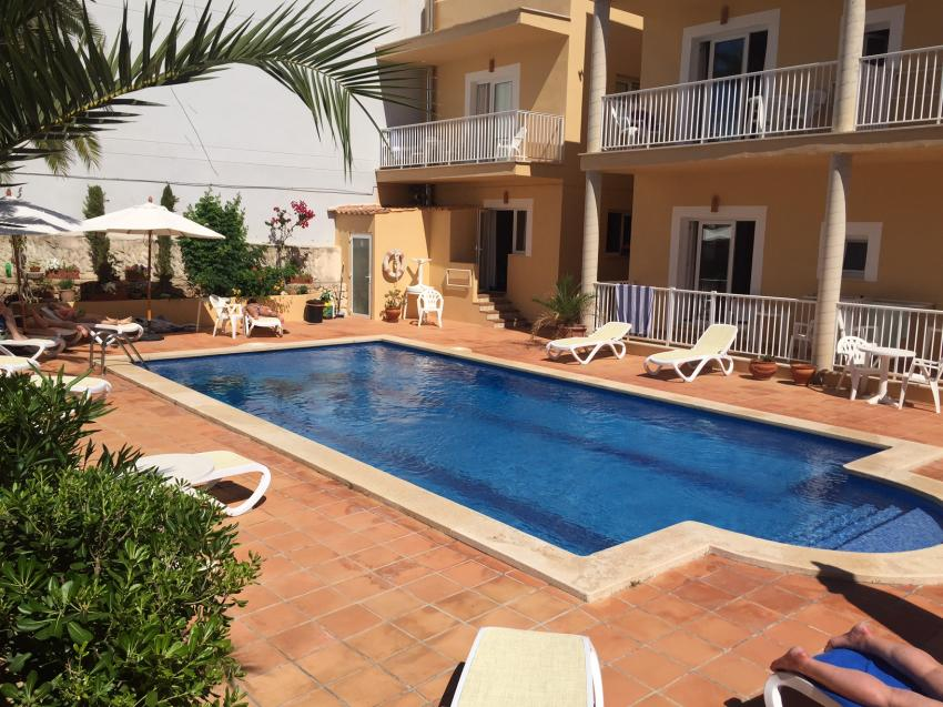 Sporthotel Bahia Azul, Porto Colom, Pool, Bahia Azul, Ted Fecke, Tauch- und Sporthotel Bahia Azul, Spanien, Balearen