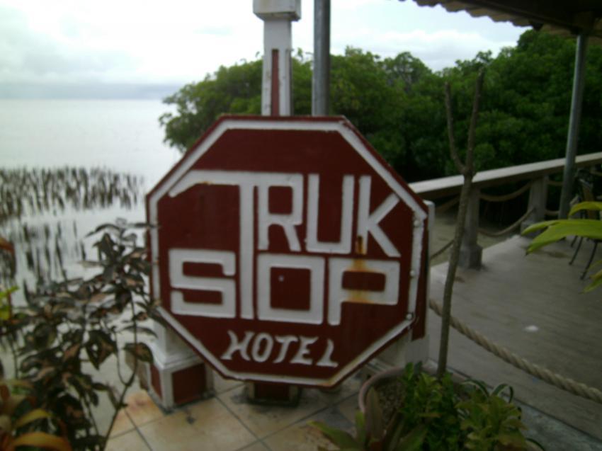 Das Logo, Truk Stop  Chuuk (Truk), Mikronesien