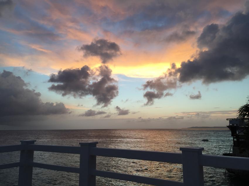 Abends auf Sun Reef, Sun Reef, Curacao Divers (Sun Reef Village), Sint Michiel, Niederländische Antillen, Curaçao