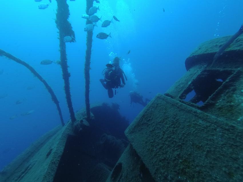 Das Wrack von Tabaiba, el Pejin, Scubanana, Radazul, Teneriffa, Kanarische Insels, Scubanana Dive Center, Teneriffa, Spanien, Kanaren (Kanarische Inseln)