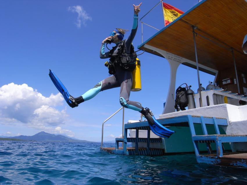 Tauchen vom Boot, lumbalumba diving, manado, Indonesien, bunaken, tauchen, sulawesi, resort, Lumbalumba Diving Resort, Manado, Sulawesi