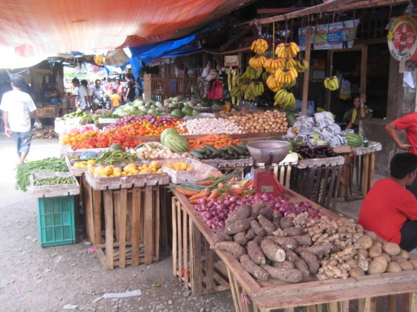 Moalboal Markt, Moalboal Markt, Parrot Resort Moalboal, Philippinen