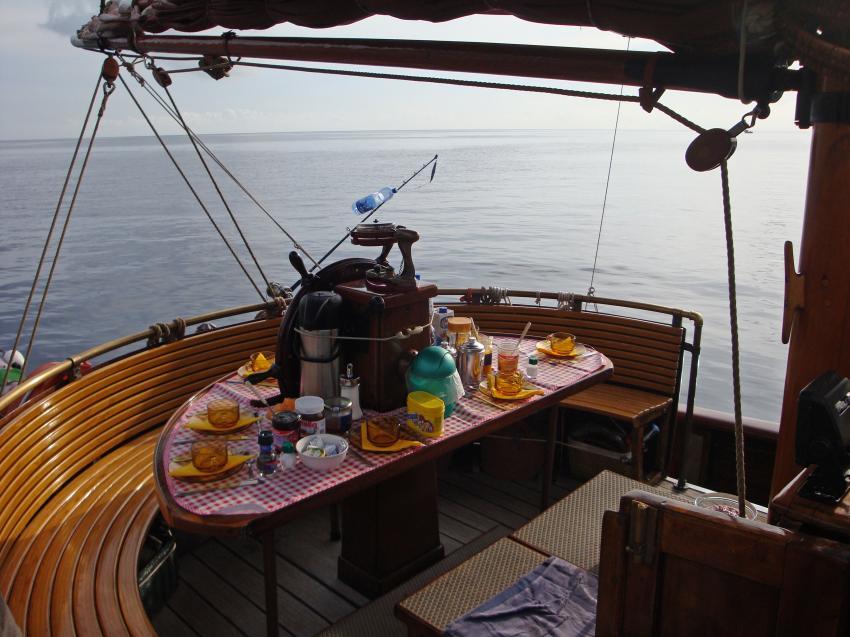 Verpflegung an Deck, M/S Norseman, Italien
