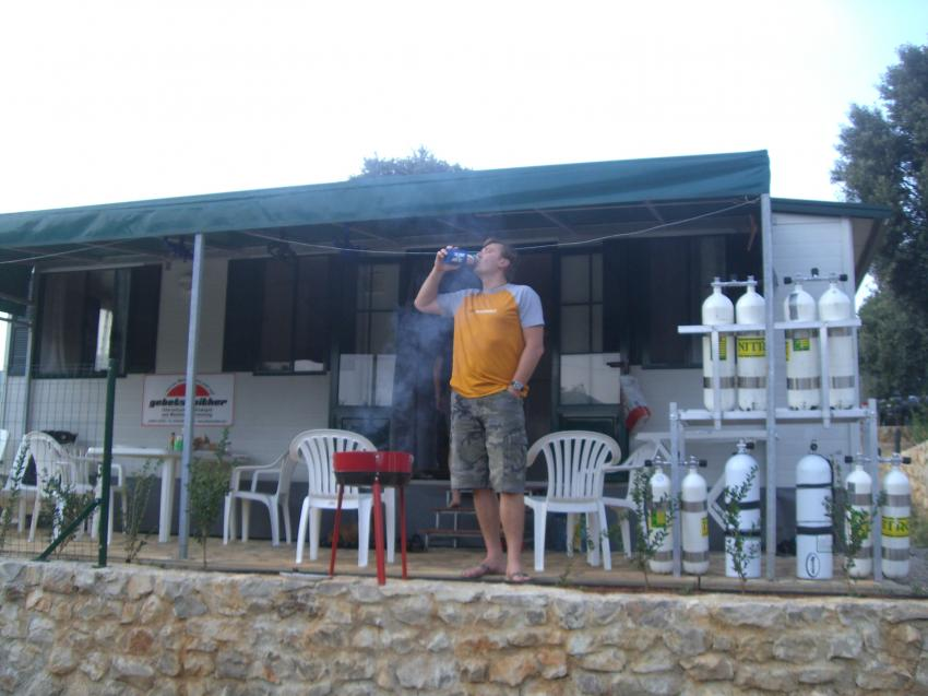 Wrack der Vis/ 400m vor der Plomin-Bucht, Wrack der VIS,Kroatien