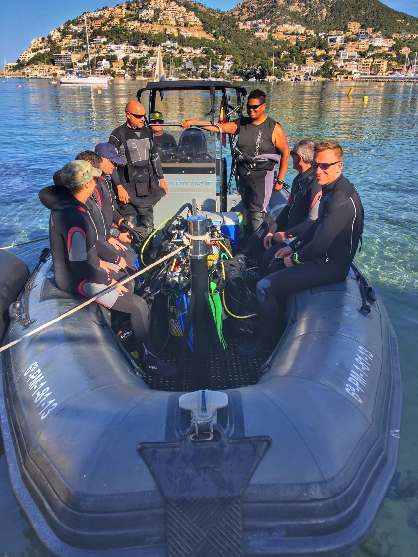 Tauchboot Cool Divers, Cool Divers, Puerto Andratx, Mallorca, Spanien, Balearen