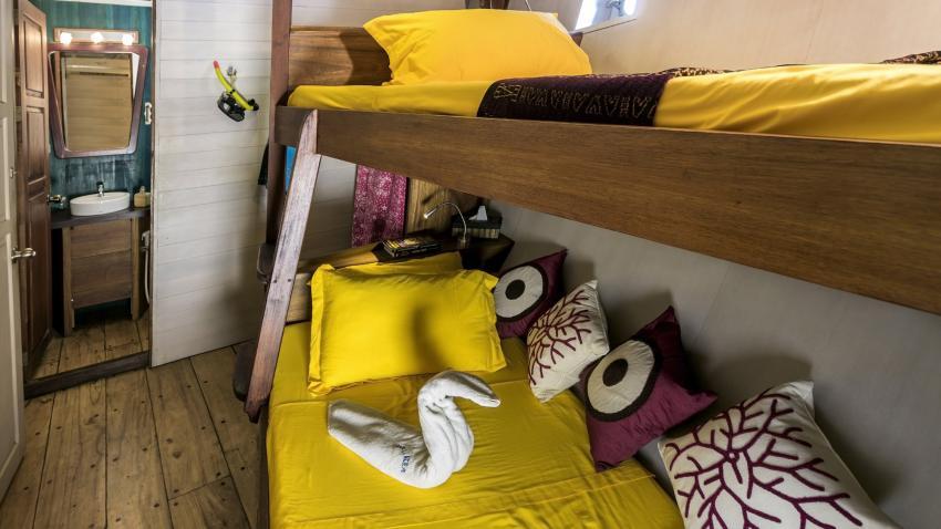 Twin bed cabin lower deck MV Ambai, M/V Ambai, Indonesien, Allgemein