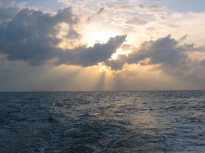 Schatzinsel (Isla de Juventud), Schatzinsel / Maria la Gorda,Kuba,Sonnenuntergang auf dem Meer