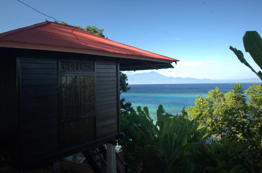 Sea view bungalow, Gecko Dive Center, Bunaken, Indonesien, Sulawesi
