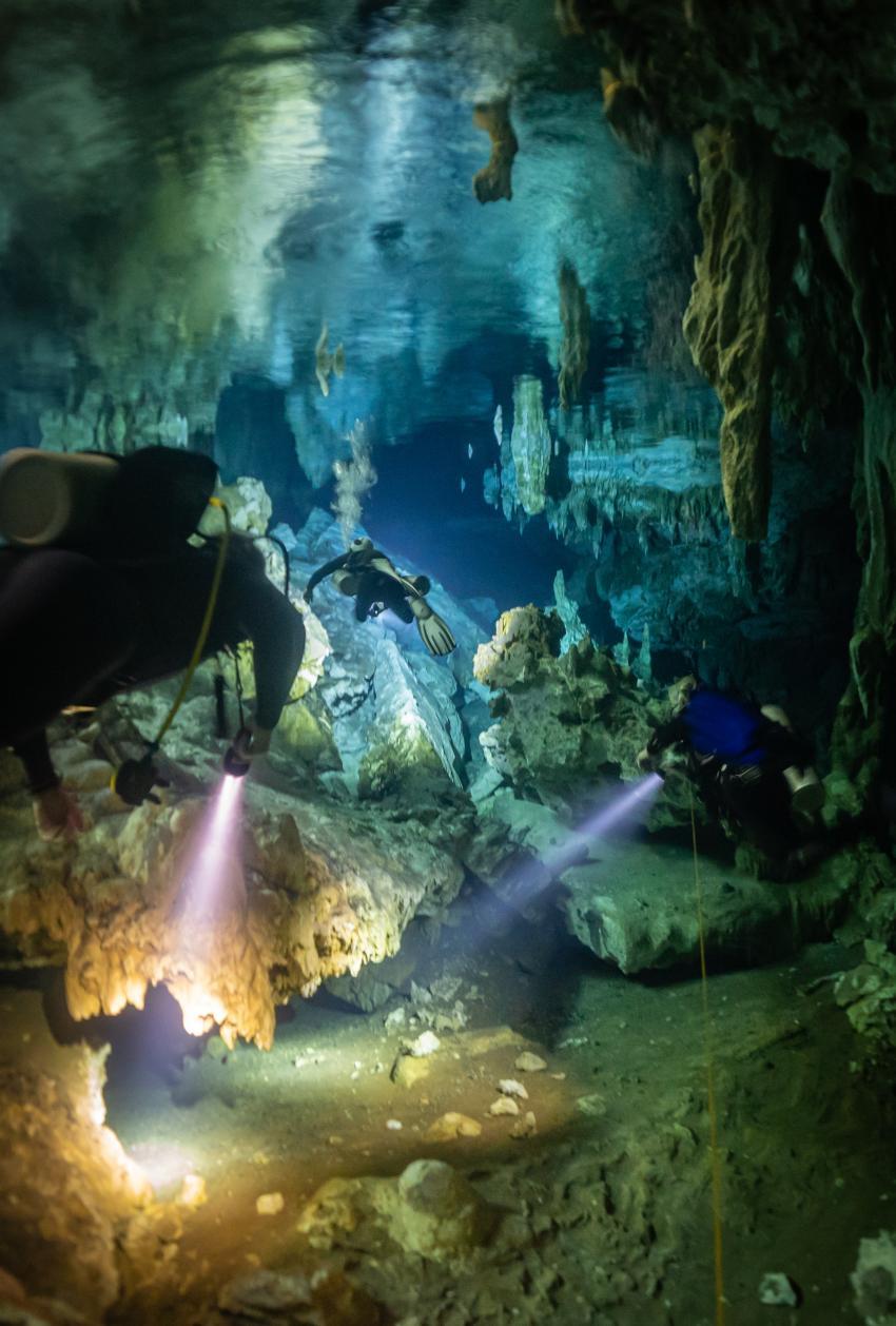 Cenote, Höhlentauchen, Höhle, Halocline Divers, Mexiko