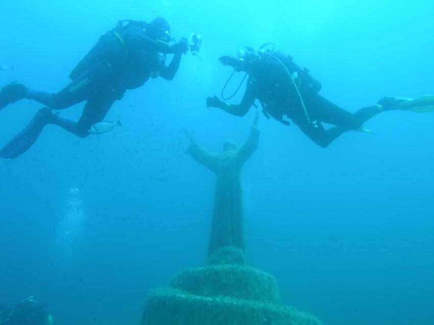 Recco - Portofino, Recco - Portofino,Italien,statue,christus,jesus,erhoben