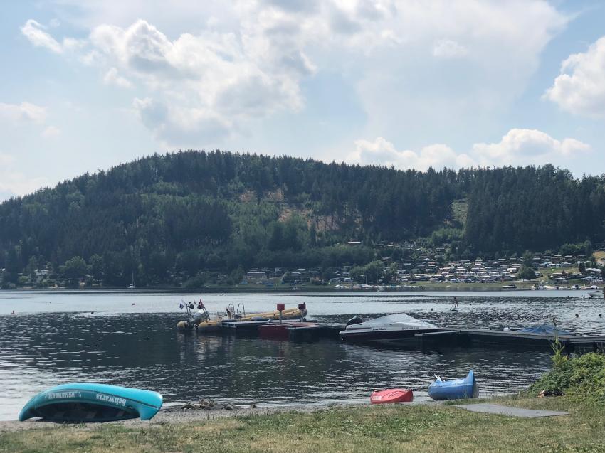 Einstieg Ufer, Wassersportzentrum Saalthal-Alter, Hohenwarte-Stausee, Deutschland, Thüringen