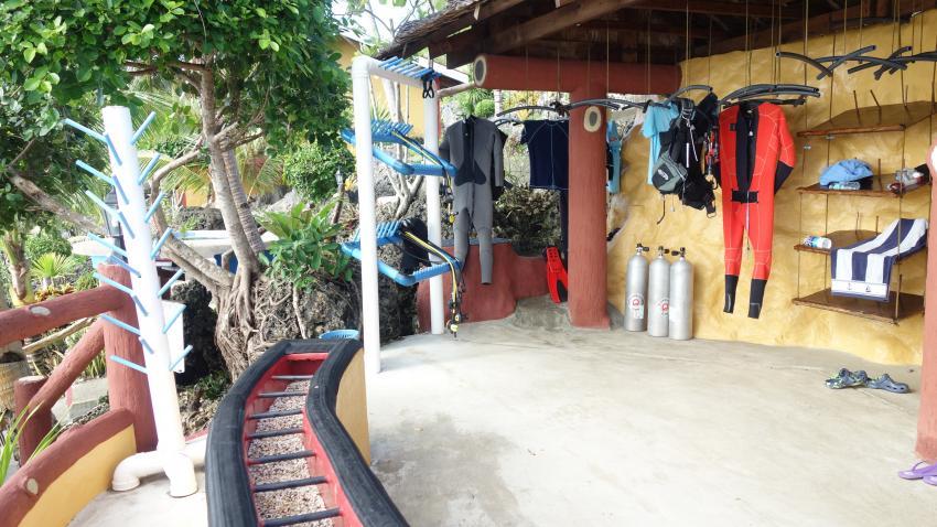 Basis, Sunset Dive Resort, Guindulman/Anda, Bohol, Philippinen