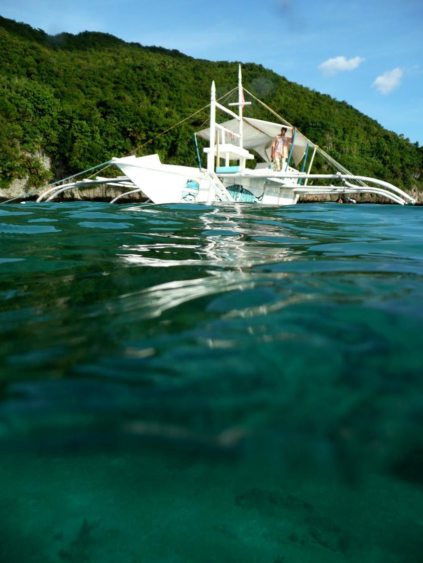 Coco White Beach, Coco White Beach,Philippinen,Segelschiff