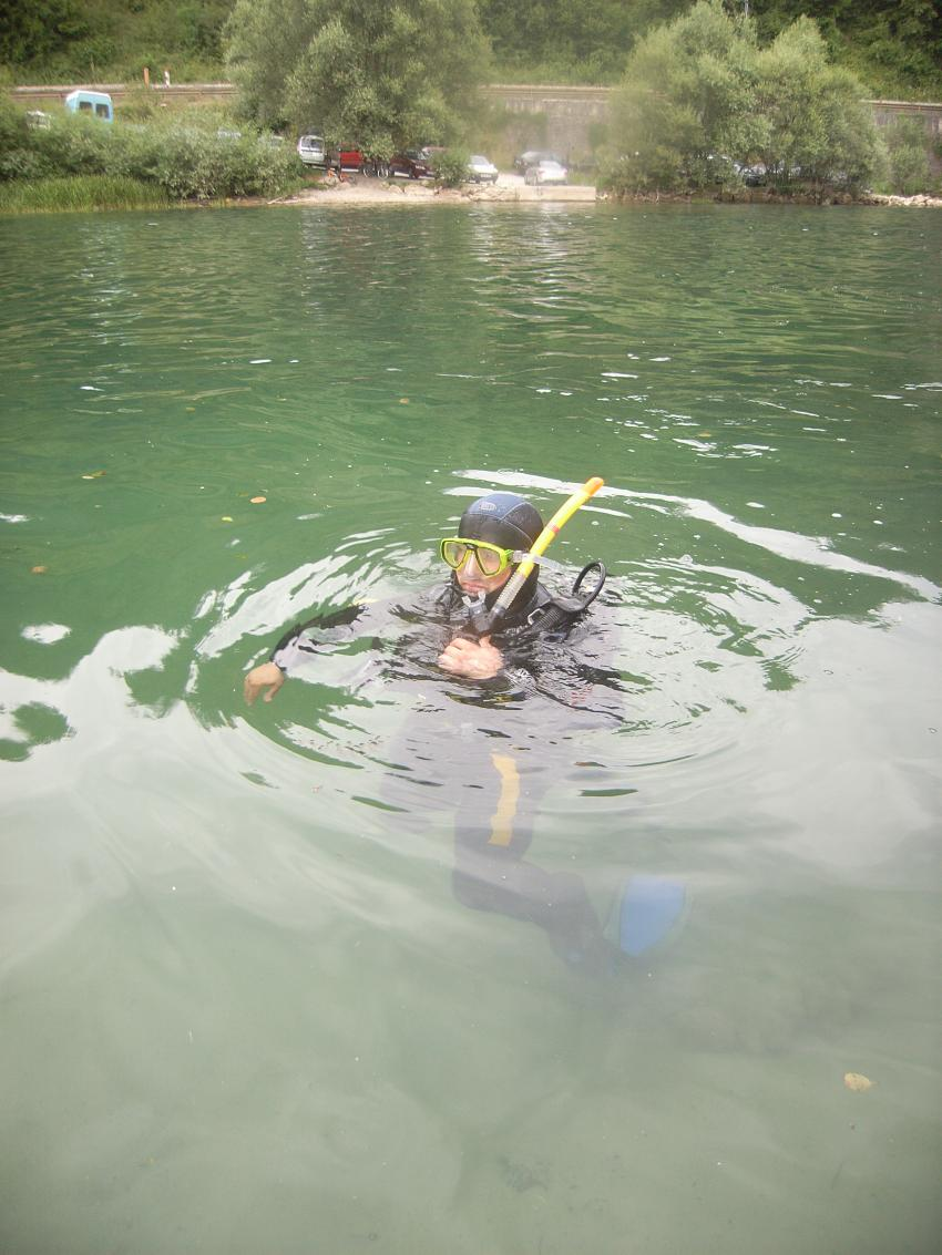 Fluss Una, NW Bosnien, Fluss Una,Bosnien und Herzegowina,Nur 4kg Blei?! Flusstauchen,taucher