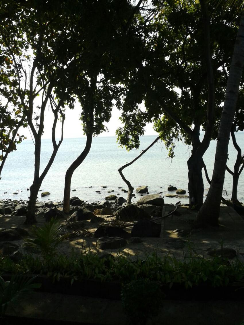 Ankermi, Blick aus meinem Bungalow, Ankermi,Happy Dive,Maumere, Indonesien, Allgemein
