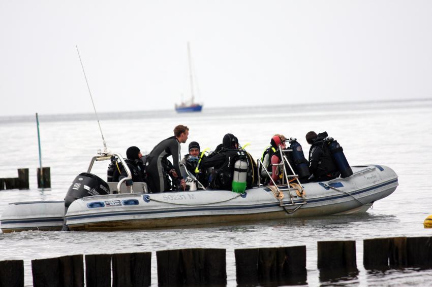 Boot geht, RIB, Tauchbasis Baltic, Kühlungsborn, Deutschland, Mecklenburg-Vorpommern