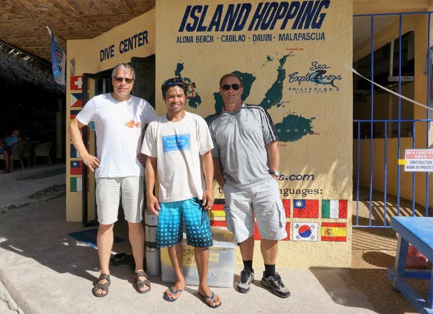 Unser Tauchguide, Sea Explorers, Alona Beach, Panglao, Philippinen