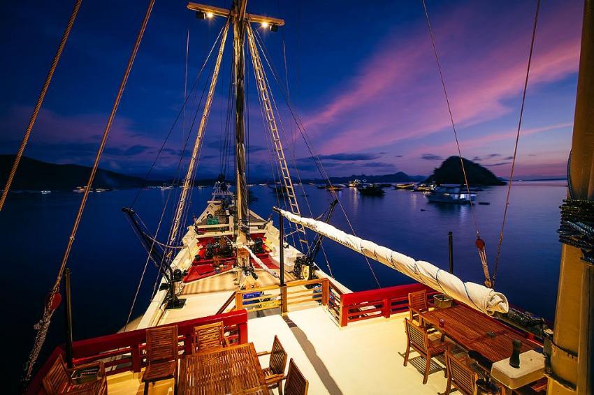 Vorderdeck, SM/Y The Seven Seas, Bali, Indonesien