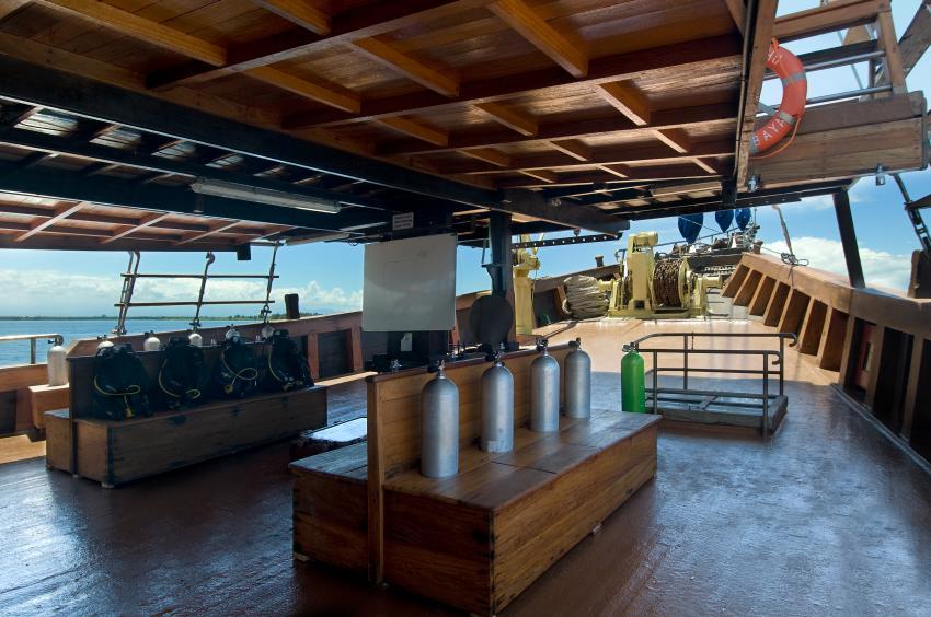 Dive deck - viel patz, Indonesia;liveaboard;komodo;safari, Cheng Ho, Indonesien, Allgemein