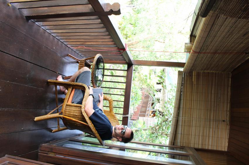 Balkon, Bastianos Diving Resort, Lembeh, Indonesien