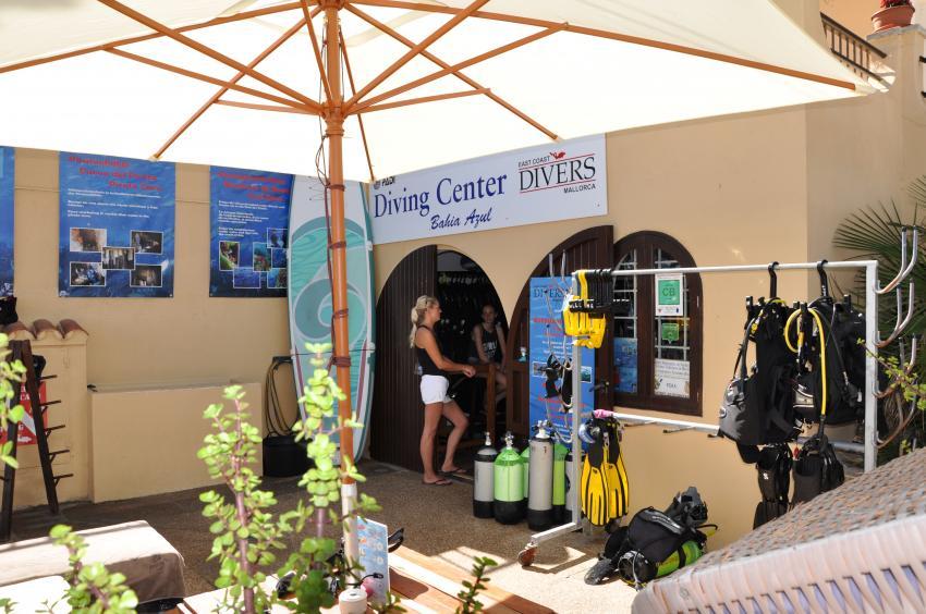 East Coast Divers Basis, Porto Colom, Mallorca