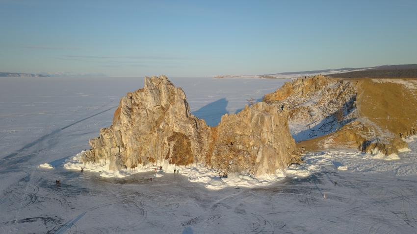 Schamanenfels, Olchon, Schamanenfels, Olchon, Baikalsee / Sibirien, Russland