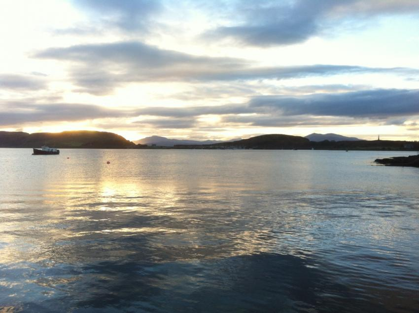 Oban - Blick auf Kerra Island, Oban, Scotland, Basking Shark Scotland, Großbritannien, Schottland