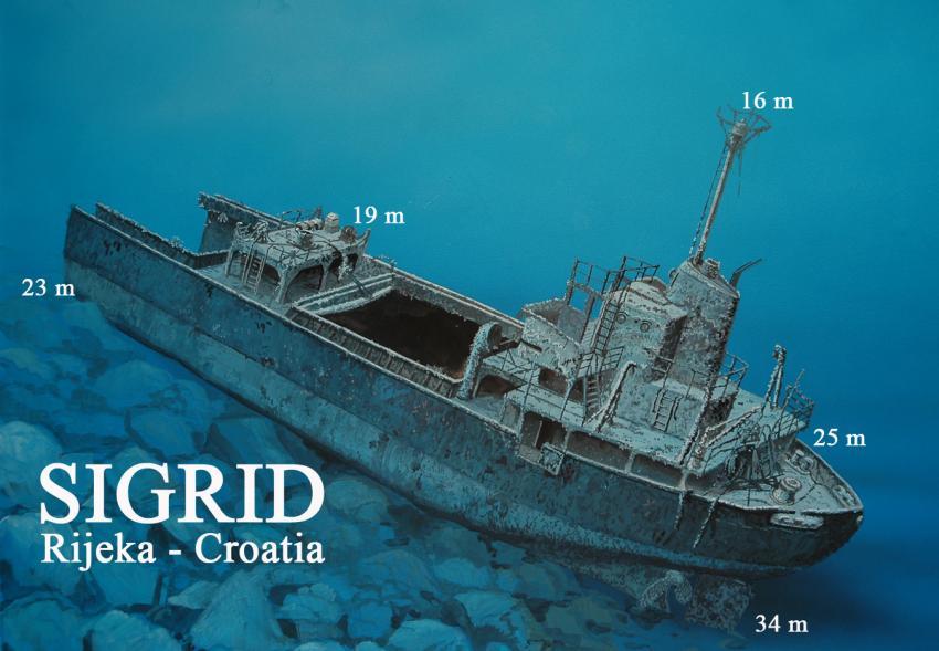 Wrack Sigrid, Kroatien