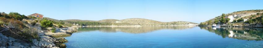 Insel Hvar, Insel Hvar,Kroatien,Panoramabild,hausbucht