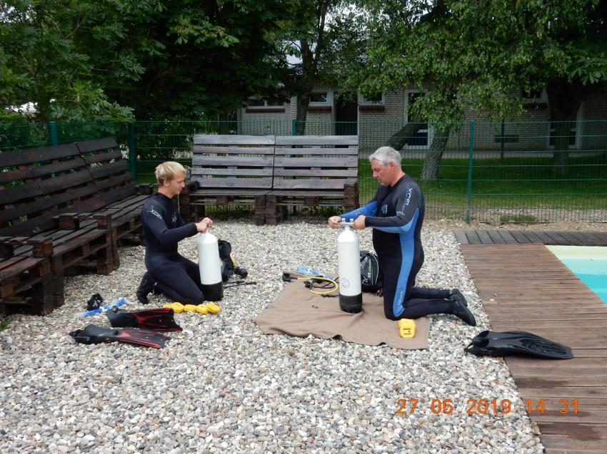 Start und lernen, Tauchen Südstrand, Fehmarn, Deutschland, Schleswig-Holstein