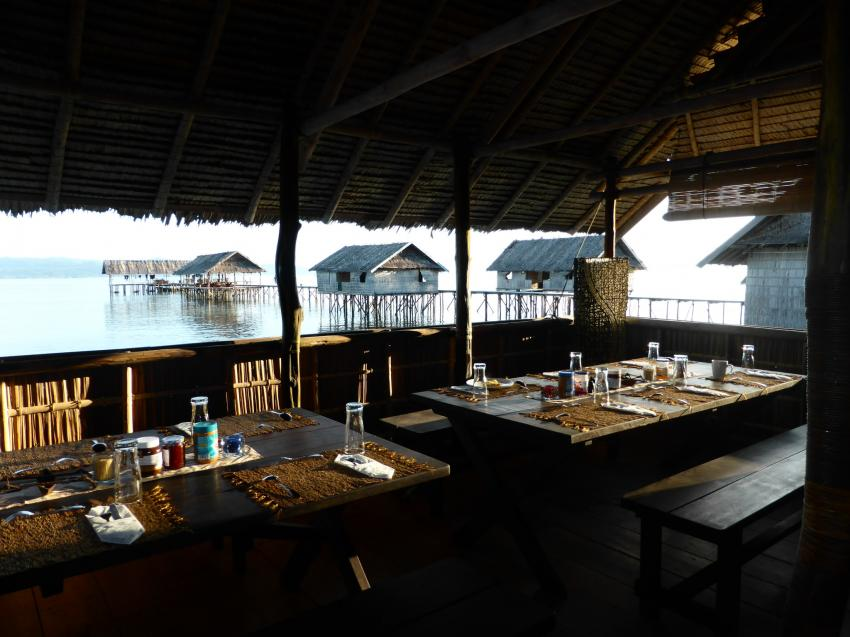 Restaurant, Kri Eco Resort, Raya Empat Islands, Indonesien, Allgemein